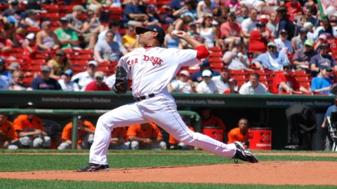 Doubront started for the Sea Dogs at Fenway Park in the 'Futures at<br />  Fenway' event in 2009.