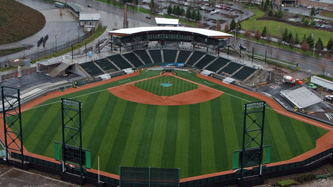 PK Park, which is owned by the University of Oregon, is the Ems' new home.